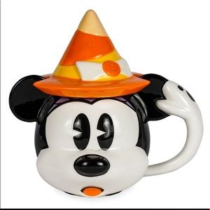 🧡💜 Disney Minnie Mouse Halloween Ceramic Mug with Witches Hat Lid